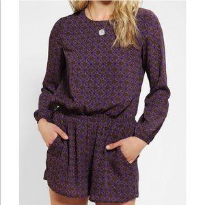 Lucca Couture Purple Open Back Romper Size Medium